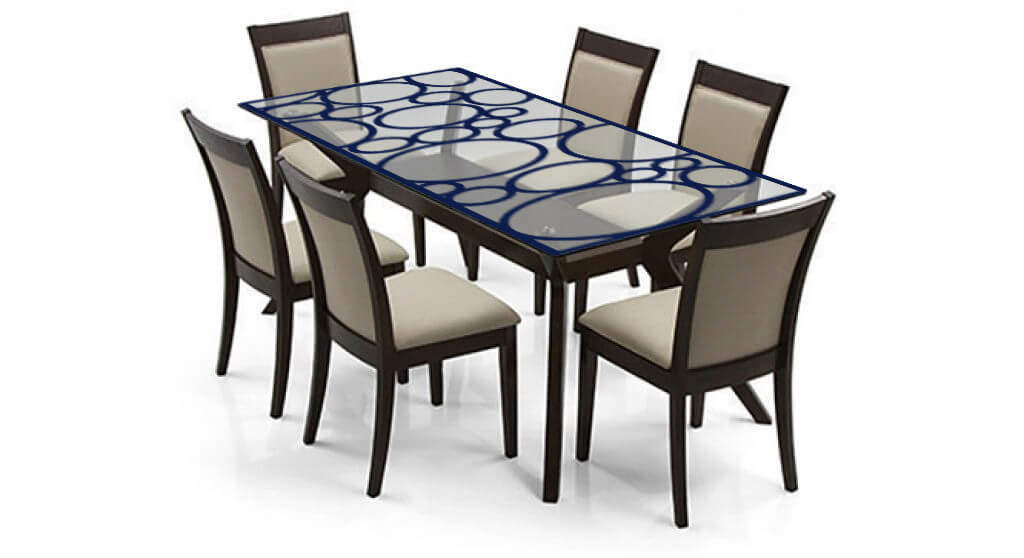 Etching Designer Glass Dining Table Top Fgdted09 Flair Glass International